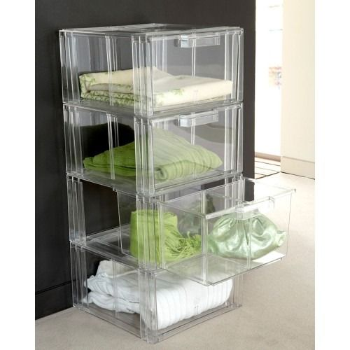 Acrylic Stackable Storage Drawers Clear In 2020 Clothes Storage