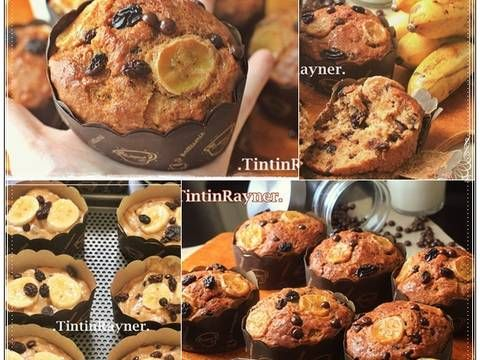 Resep The Best Banana Muffin Ever Super Moist No Mixer Oleh Tintin Rayner Resep Makanan Resep Muffin