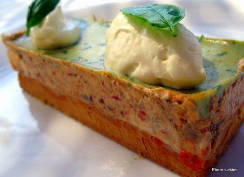 2010-3271.JPG pierre cuisine sablé parmesan caviar d'aubergine marscarpone tomate et basilic