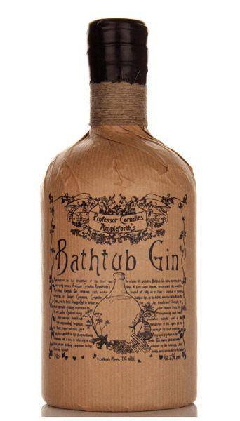 Professor Cornelius Ampleforth's Bathtub Gin..... Love the style, love the bottle...