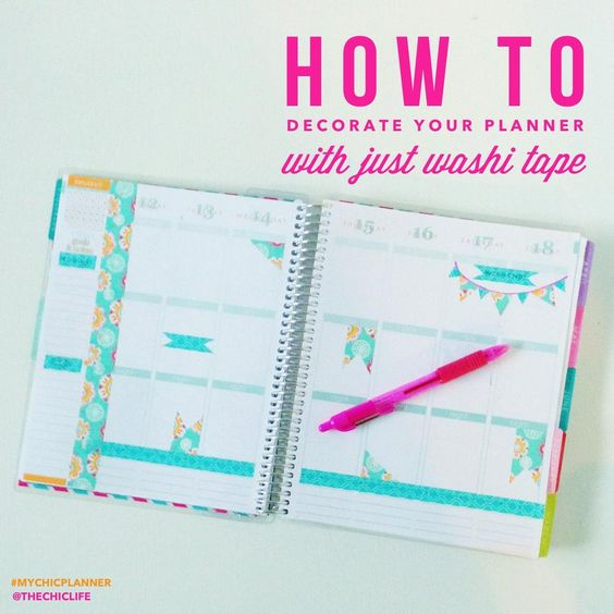 thanks for sharing all of the fun ways you decorate your planner with washi tape, Diana!