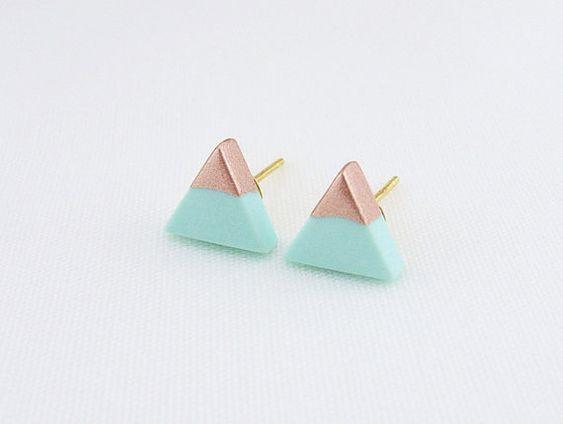 Boucles d'oreilles avec forme géométrique - Pinterest