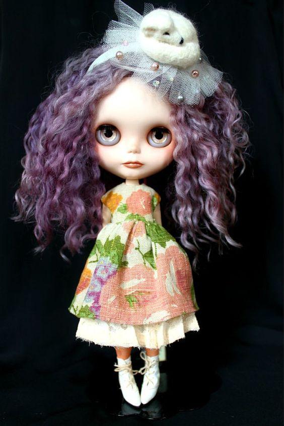 Réservé pour Kathleen-OOAK Custom Art Blythe Doll par CupcakeCurio