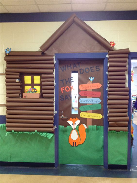Camping Themed Classroom Decorations ~ Just a pic my oldest child s class door for camp high