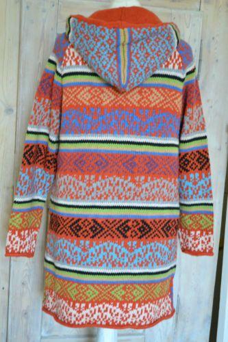 Coat jacket hooded wool knitting NP235 € GR M 38 Odd Molly Flower   eBay