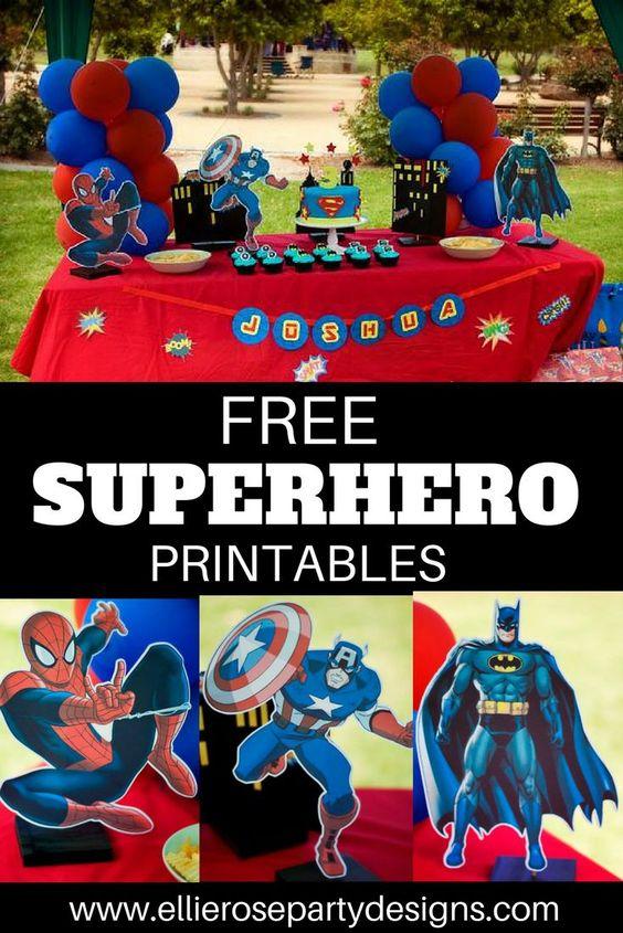Diy Superhero Birthday Party Batman Spiderman Captain America