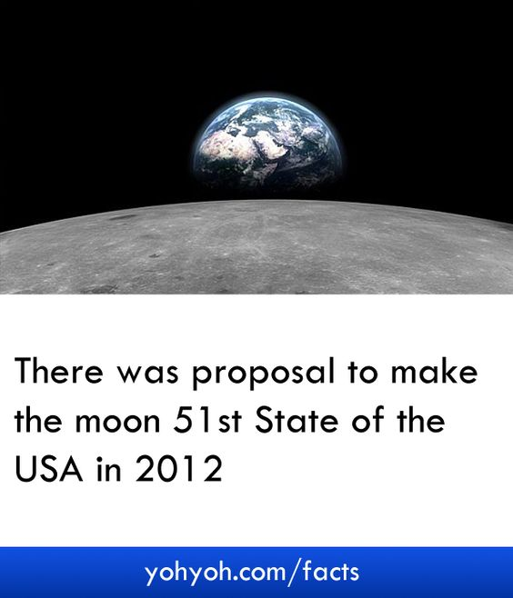 There Was Proposal To Make The Moon 51st State Of The USA In 2012 - Unknown Moon Facts