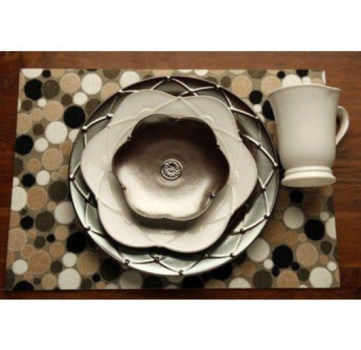 Casafina Meridian Dinnerware Bronze | a metallic tabletop - save $45 on dinnerware purchases over $300 at BelleandJune.com - expires 8/15/2014