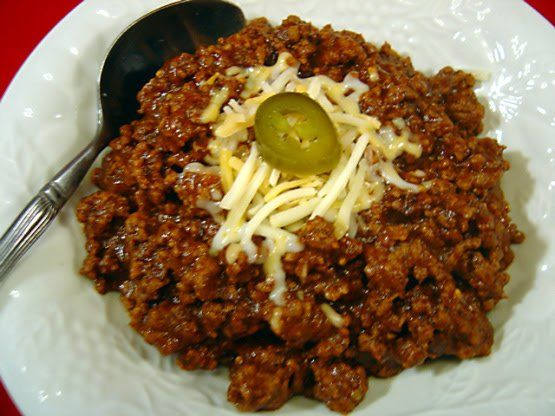 Easy Chili Con Carne No Beans Food Com Recipe Chilli Recipes Bean Recipes Chili Recipes