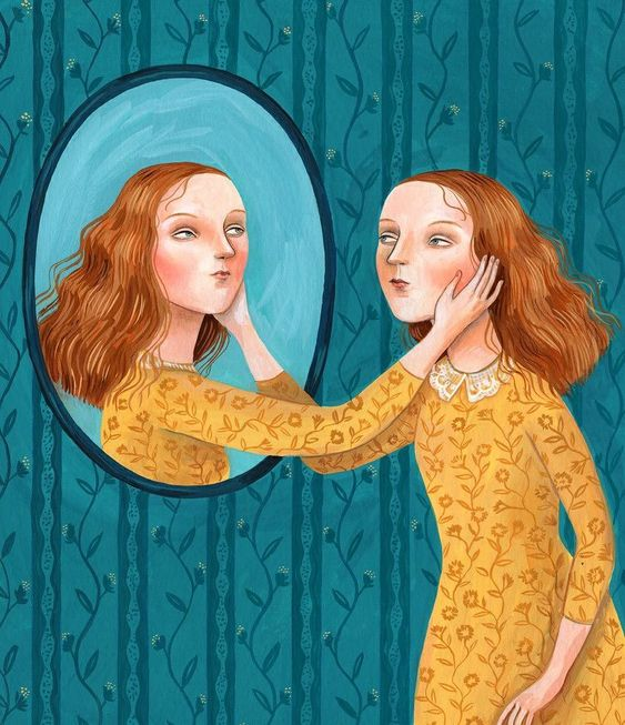 "Helena Perez Garcia on Instagram: ""😚💙😚 Detail of one of the Illustrations I did for @penleyestate 🍇🍷 . . #helenaperezgarcia #illustration #surrealism #surreal #mirror…"""