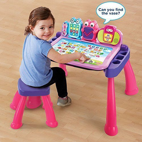 Vtech Touch And Learn Interactive Activity Center Desk Pink Kids