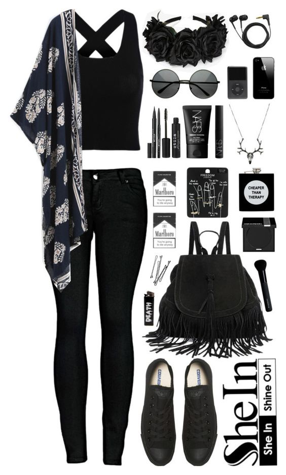 Polyvore featuring 2LUV, Converse, Sennheiser, Stila, NARS Cosmetics, Topshop, ASOS, MAKE UP FOR EVER, Givenchy and BOBBY