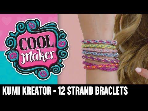 Cool Maker Kumikreator How To Make A 12 Strand Bracelet Youtube Strand Bracelet Strand Bracelet Designs