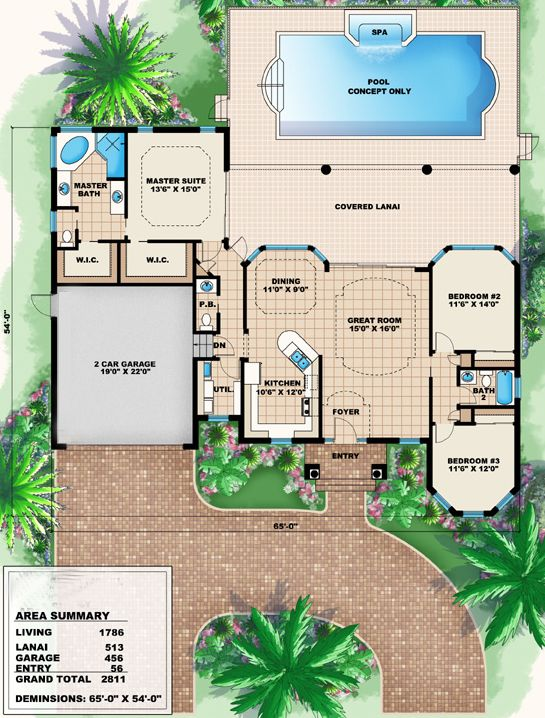 House Plan 1018 00006 Mediterranean Plan 1 786 Square Feet 3 Bedrooms 2 5 Bathrooms Mediterranean Style House Plans Sims 4 House Building Sims House Plans