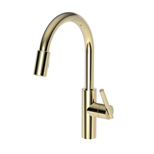 Newport Brass N1500 5103 24a East Linear Pull Out Spray Kitchen Faucet French Gold Pvd At