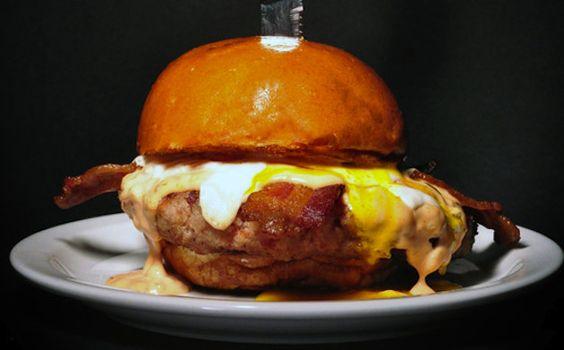 100% ground bacon burger.