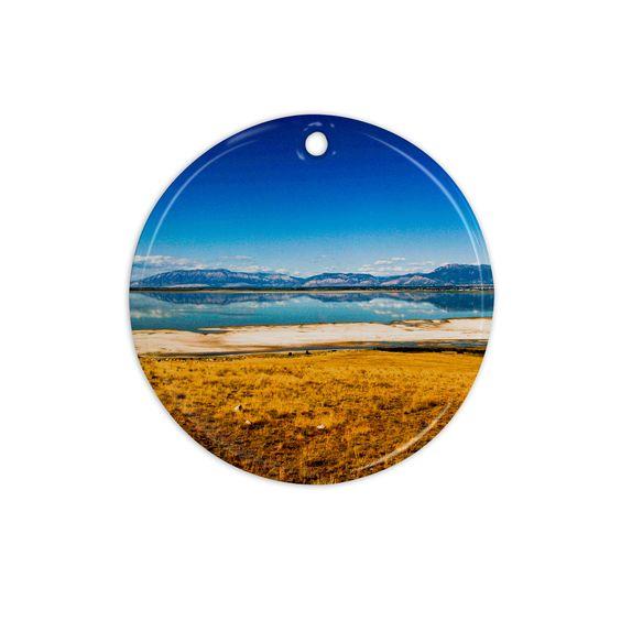"Sylvia Coomes ""Reflection"" Nature Photography Ceramic Circle Ornament"