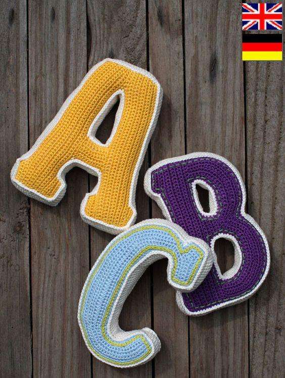 3D Buchstaben, Muster, Pdf, Häkelanleitung Für Ein Brief (Pdf In
