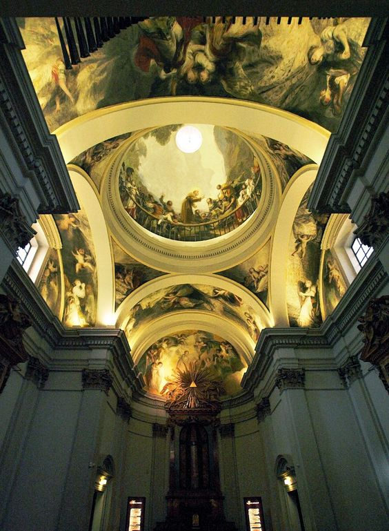 Ceiling and dome frescoes by Francisco de Goya at te Royal Chapel of St.Anthony of La Florida., Madrid