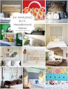 24 amazing DIY headboard ideas! Seriously every single one of these is amazing! Can't wait to get started!
