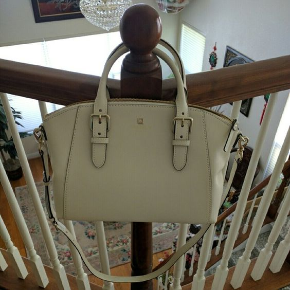 AUTHENTIC Kate spade purse BNWT  does not come with dust bag  Color: porcelain  3 pockets inside  Adjustable handles and strap kate spade Bags Satchels