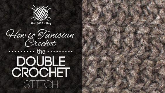 How to Tunisian Crochet the Double Crochet Stitch