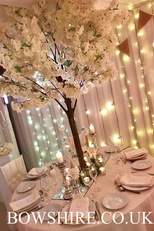 180cm Cream Blossom Tree 50 00 Bows Hire Blossom Tree Wedding Tree Centrepiece Wedding Tree Wedding Centerpieces