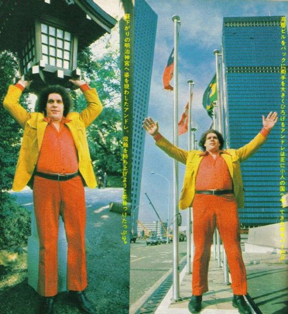 André The Giant in visita in Giappone / 1980 -