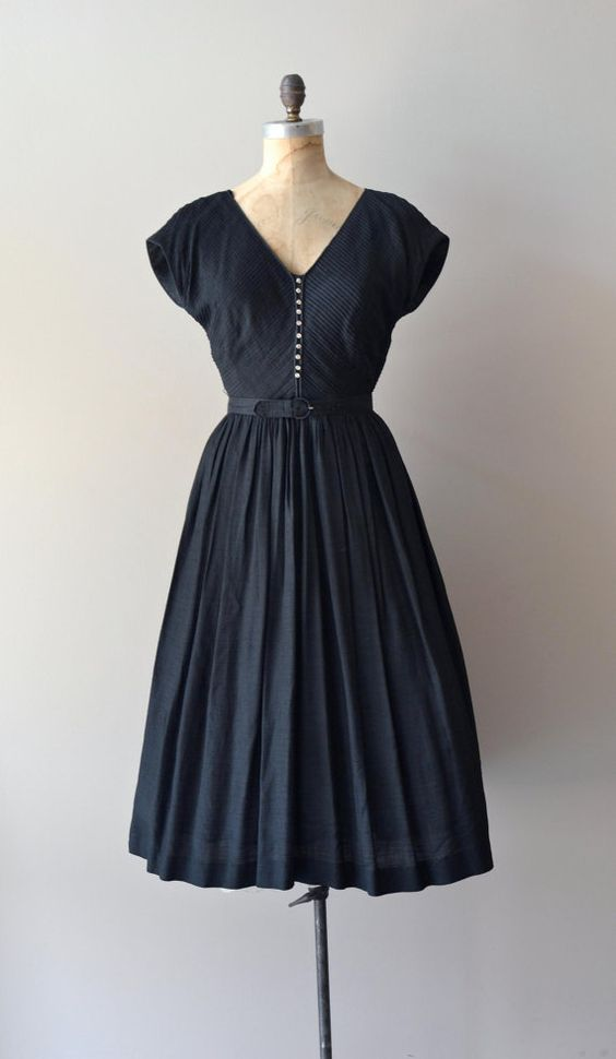 vintage 1950s Morceaux Moderato dress