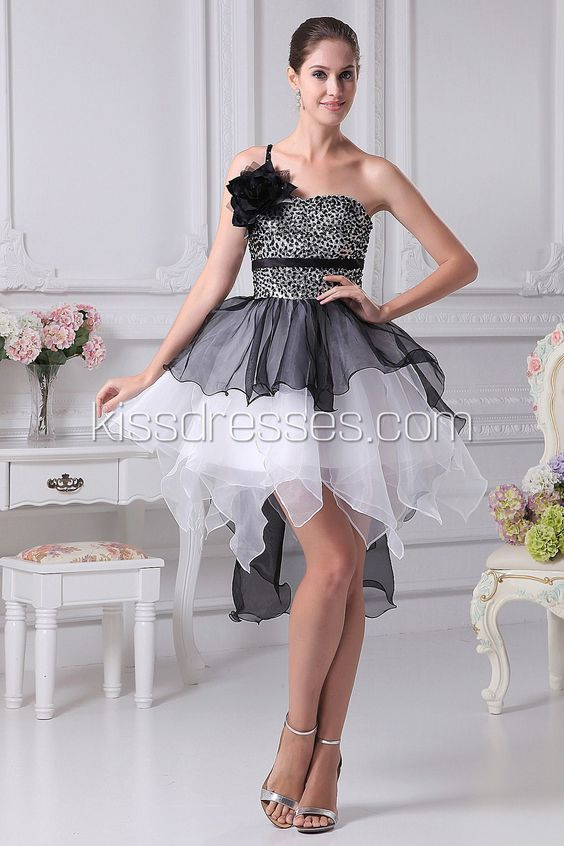 Tiered Cocktail Dress with Flower Strap$104.88