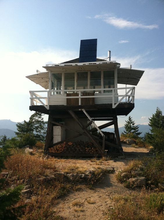 Shissler Peak Fire Lookout Tower Selway Bitterroot