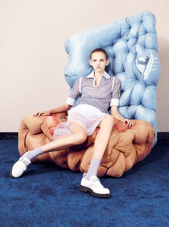 Binx Walton, Molly Bair, Harleth Kuusik by Ben Toms for Garage Magazine Spring Summer 2015 12