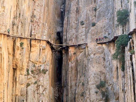 El Caminito del Rey, Spain, Photography by Rod Kirkpatrick, F Stop Press. El Caminito del Rey, Spain, is an ancient stone walkway off less than a meter, which is 300 meters high on a cliff overlooking the river Guadalhorce.