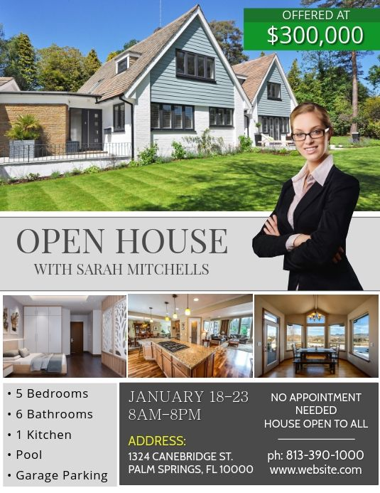 Real Estate Flyer Templates Realty Ads House For Sale Or Rent