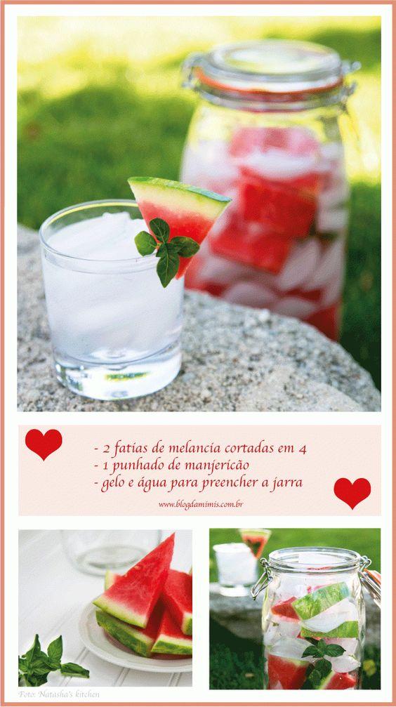 Água aromatizada de melancia
