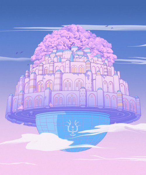 Studio Ghibli Pastel Designs Elora Pautrat Castle In The Sky Sky Art Art