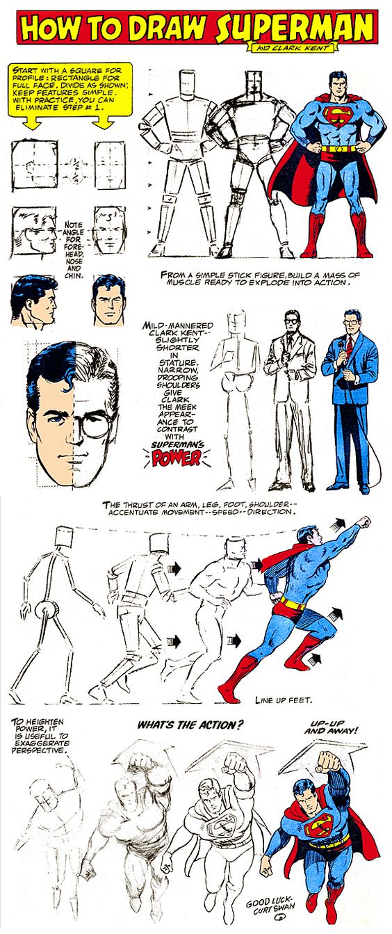 how to draw superman s
