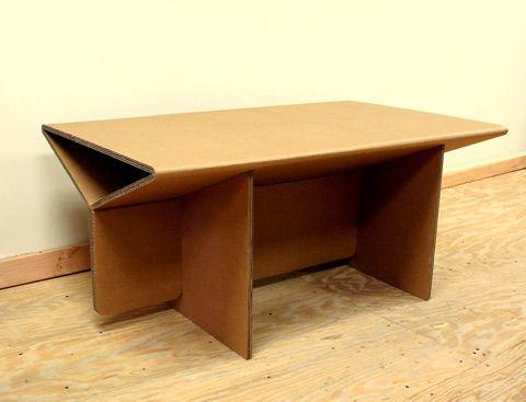 Muebles de cart n muebles and mesas de manualidades on - Mesas de carton ...