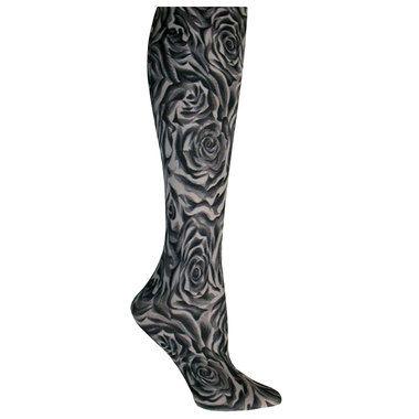 Black Roses Trouser Socks