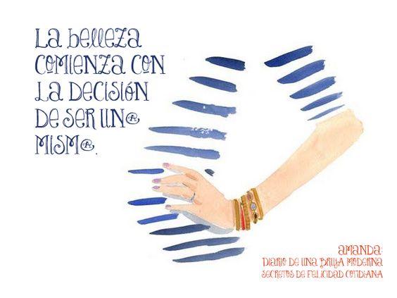 La belleza comienza con la decisión de ser un@ mism@.  Coco Chanel (diseñadora de alta costura) #secretosdefelicidadcotidiana #diariodeunabrujamoderna #crecimientopersonal #citas