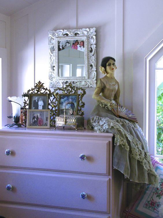 Lady's dresser, boudoir doll.:
