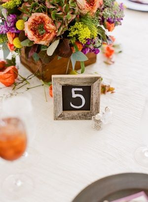 Table number chalk boards. Simple and cute. 2