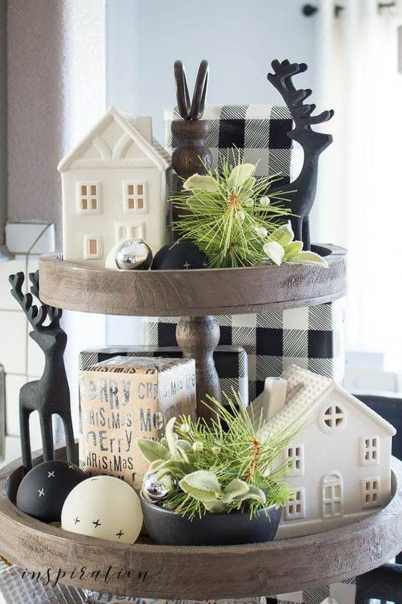 Pin By Laurie Crocker On Christmas Ideas Tray Decor Christmas Farmhouse Christmas Decor Christmas Home