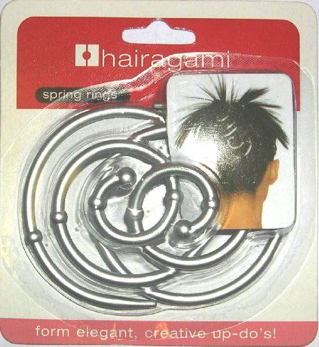 Hairagami Spring Rings Silver Ponytail Updo Hair Styling Tool