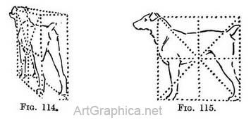 dogs in perspective, art demo