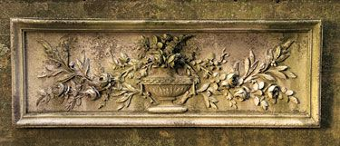 9720 floral urn wall plaque product detail outdoors landscapes