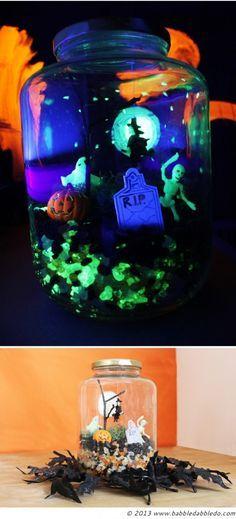 Halloween Crafts for Kids: Make a Glow in the Dark Terror-arium | DIY Halloween Crafts