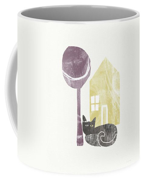 Modern Coffee Mug featuring the painting The Cat's House- Art By Linda Woods by Linda Woods