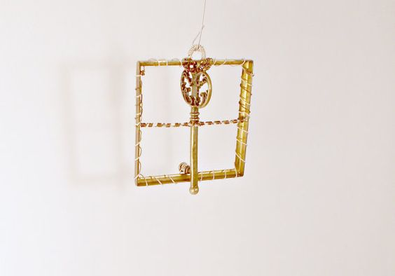 Wire Wrapped Key Ornament by MelsMakeBelieve on Etsy, $15.00
