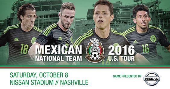OCTOBER 8 - Mexican National Soccer Team vs. New Zealand at Nissan Stadium.